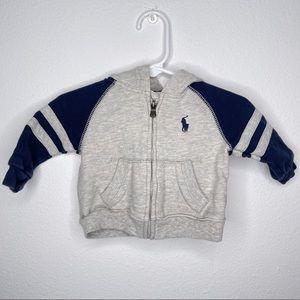 Ralph Lauren zipper hoodie sweatshirt hoodie sz 3m